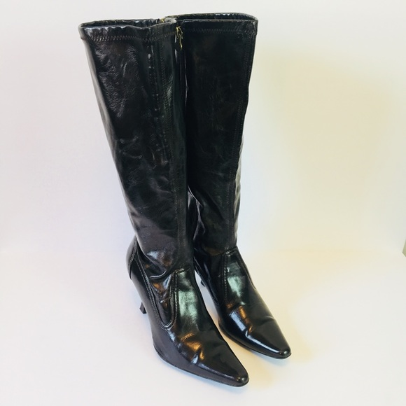 08a80456af659 Etienne Aigner Lani Tall Boot Black Faux Leather 7